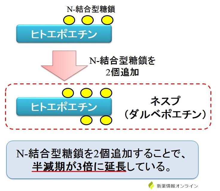 ネスプの作用機序・特徴