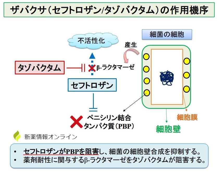 ザバクサ配合点滴静注用の作用機序